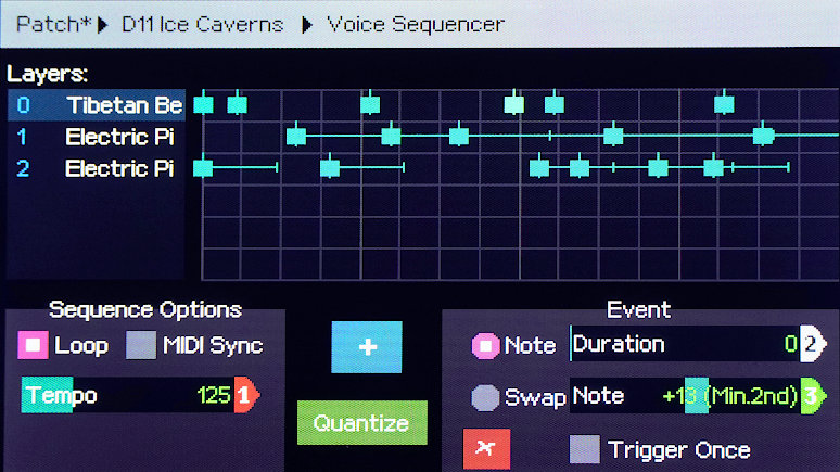 Screenshot of the Voice Sequencer