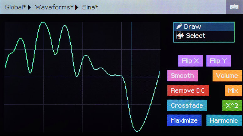 Screenshot of the waveform drawing interface