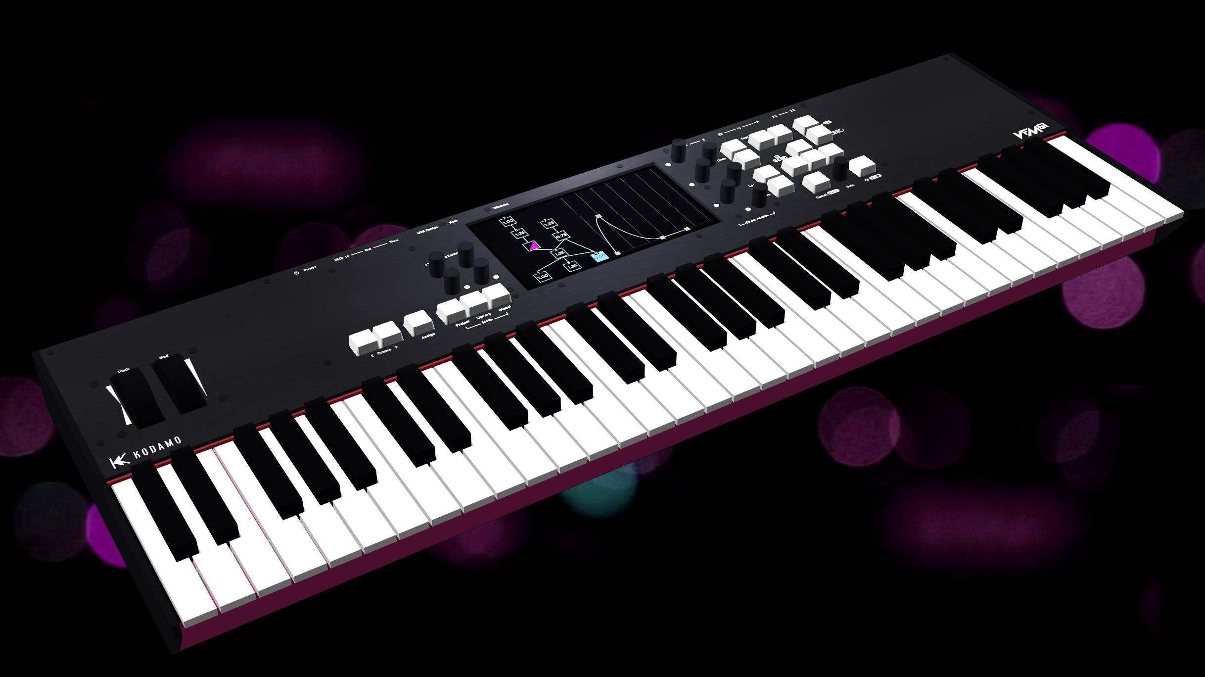 VFM keyboard 3D render