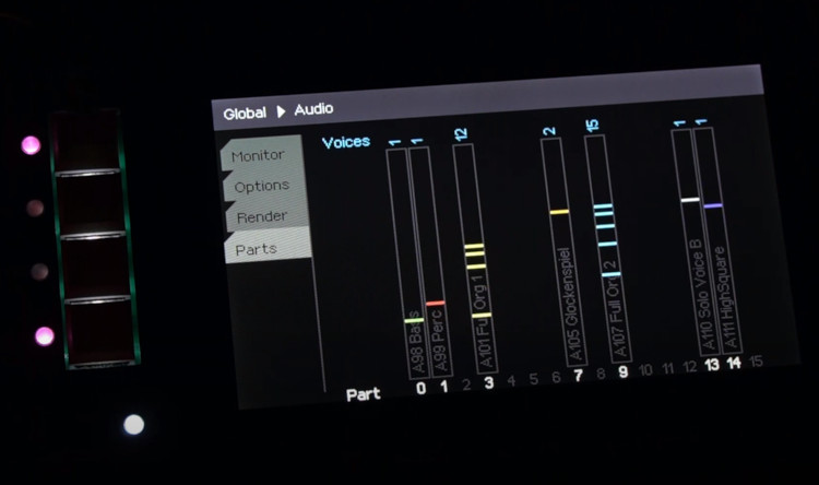 EssenceFM screen showing sounds playing